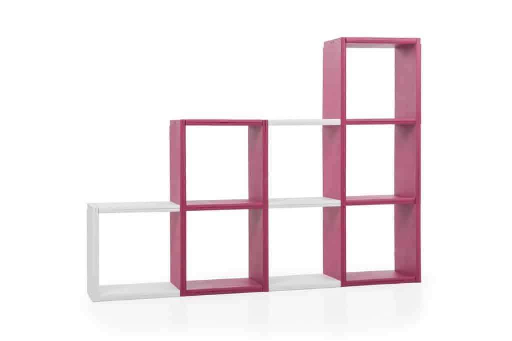 bibliothèque 8 cases bicolore