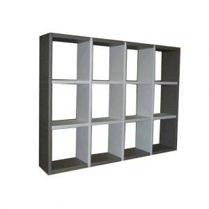bibliothèque 12 cases bicolore